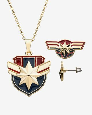 Black Pants With Studded Belt With Chains Roblox Shop Now For The Marvel Captain Marvel Stud Earrings And Pendant Set Fandom Shop