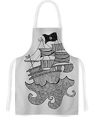 Multicolor 31 by 35.75 KESS InHouse Bri BuckleyGift Wrapped Crazy Abstract Artistic Apron
