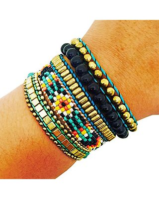 2708d36db3d5 Activity Tracker Bracelet for Fitbit Flex and Other Fitness Trackers - The  ROSIE Colorful Beaded