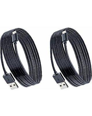 Purtech 3-Ft or 6-Ft Apple-Certified Braided Lightning Cable (1-, 2-, or  3-Pack) 6-Ft Black 2 Pack Lightning (2XIP5-2M-BRD-BK)