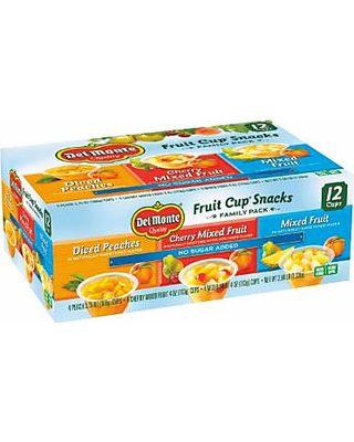 Del Monte 24 Cups Del Monte Fruit Cup Snacks No Sugar Added