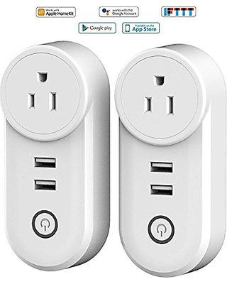 Outdoor Outlet,Rainproof WiFi Smart Socket with 3 AC Outputs
