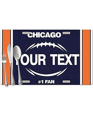 BRGiftShop Personalized Custom Name Football Team Houston Set of 4 Table Placemats