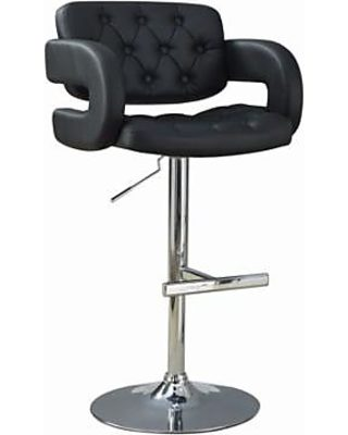Magnificent Benzara Contemporary Adjustable Height Barstool Black From Unemploymentrelief Wooden Chair Designs For Living Room Unemploymentrelieforg