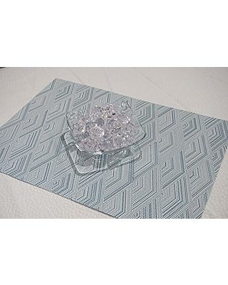 Word Print Placemat E by design PT4WN508BL40 18x14-inch Courage Blue