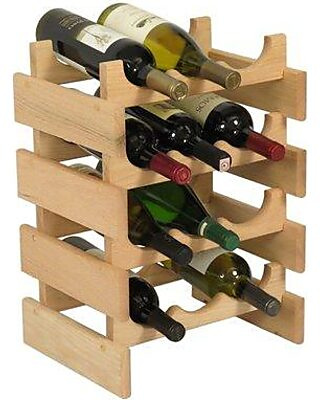 Wooden Mallet Dakota 12 Bottle Floor Wine Rack Wr34 Finish Unfinished