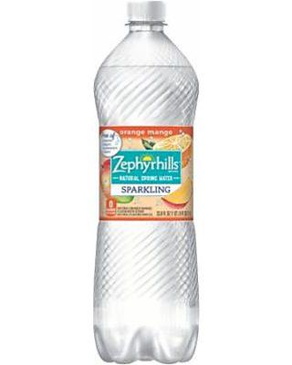 Zephyrhills Orange Mango Sparkling Water, 33 8 Fl Oz, 12 Ct