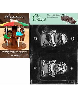 CybrtraydHollow Chick Easter Chocolate Candy Mold with Chocolatiers Guide Instructions Book Manual