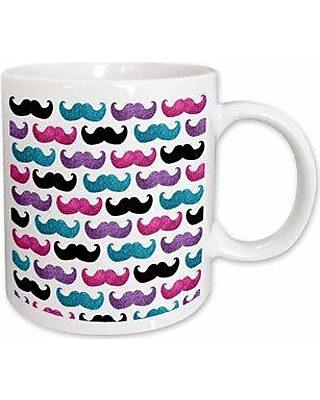 East Urban Home East Urban Home Bold Mustache Pattern Coffee