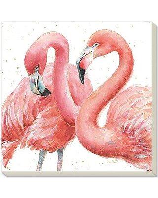 2 x 3 Floor Mat Kess InHouse Art Love Passion Pink Flamingos Blue Magenta Decorative Door