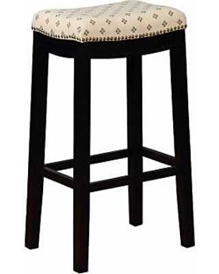 Excellent Linon Allure Bar Stool Black Gmtry Best Dining Table And Chair Ideas Images Gmtryco