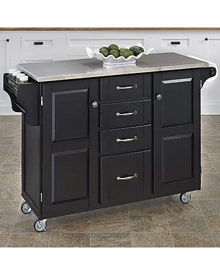 August Grove August Grove Adelle A Cart Kitchen Island With