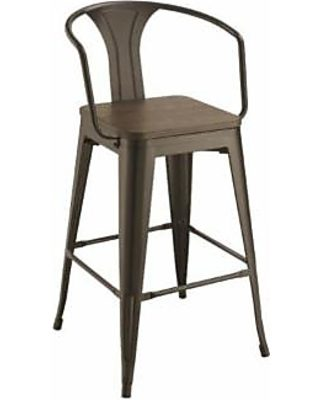 Surprising Coaster Dark Elm And Matter Black Bar Stool Ibusinesslaw Wood Chair Design Ideas Ibusinesslaworg