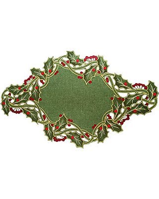 ih casa d/écor Traditional Poinsettia Plastic Placemat