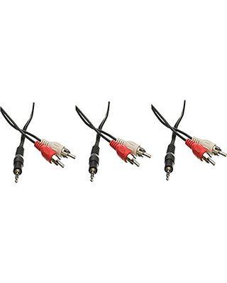 White Bullz Audio B35R3WT 3-Feet Soft PVC 3.5 to RCA Cable