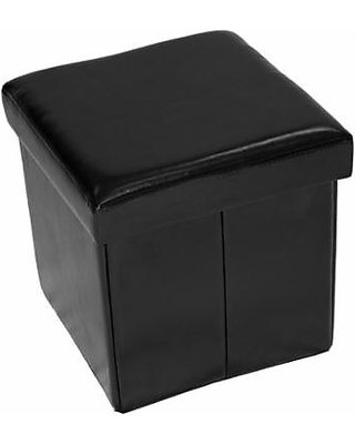Fine Home Source Home Source Black Folding Storage Ottoman From Gmtry Best Dining Table And Chair Ideas Images Gmtryco