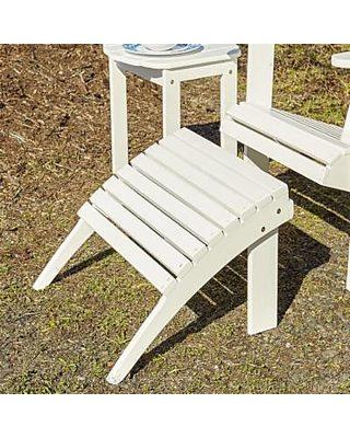 Cool Linon Linon Gavil White Adirondack Ottoman From Walmart Com Inzonedesignstudio Interior Chair Design Inzonedesignstudiocom