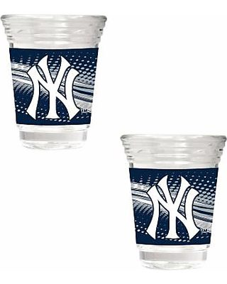 Great American Products New York Yankees 16 oz Travel Tumbler with Metallic Honeycomb Design Wrap