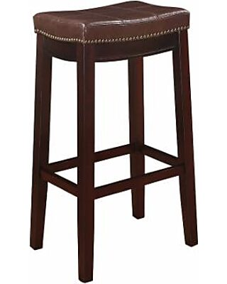 Brilliant Linon Linon Claridge Bar Stool Brown From Kohls Saveur Pdpeps Interior Chair Design Pdpepsorg
