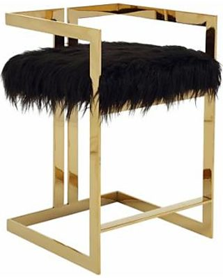 Excellent Pangea Home Pangea Home Kenzie Counter Stool Faux Fur From Pabps2019 Chair Design Images Pabps2019Com