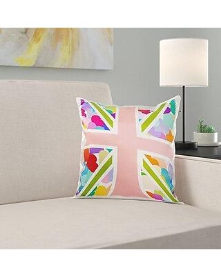 Large Union Jack Flag Filled Cushion Brown Natural  Traditional Vintage Gift New