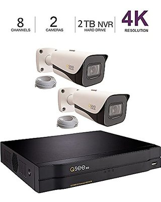 Q See Q-See 4K 8MP 2 Bullet Camera Kit 8-Channel NVR Ultra