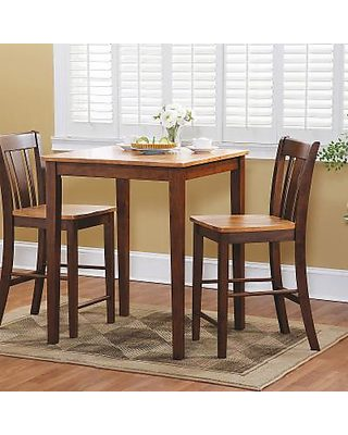 International Concepts Dining Table Set, Brown