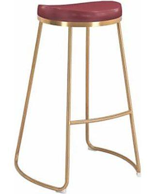 Awesome Bree Barstool Burgundy Set Of 2 Ncnpc Chair Design For Home Ncnpcorg