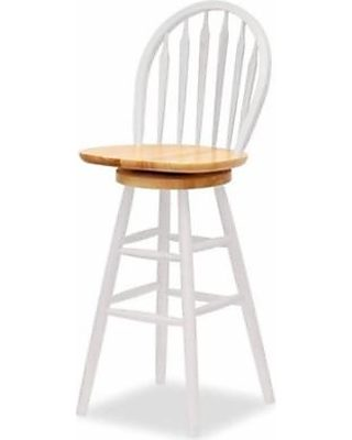 Groovy Pemberly Row 30 Swivel Bar Stool In White Pabps2019 Chair Design Images Pabps2019Com