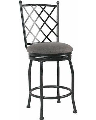 Astounding Homepop Tristan Metal Counter Stool Black Lamtechconsult Wood Chair Design Ideas Lamtechconsultcom