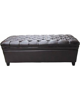 Peachy Gdf Studio Heidi Brown Leather Storage Ottoman From Walmart Caraccident5 Cool Chair Designs And Ideas Caraccident5Info