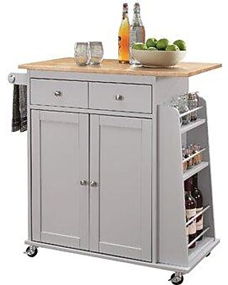 Charlton Home Artoria Kitchen Cart With Mdf Top W001458090
