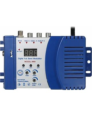 paquet à la mode et attrayant plutôt cool officiel Anself Compact RF Modulator Audio Video TV Converter RHF UHF ...