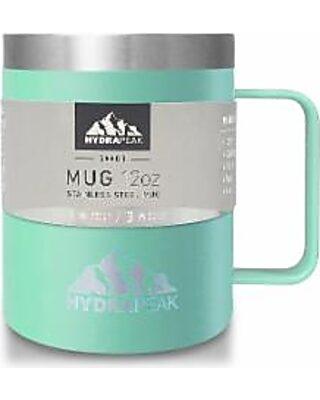 HydraPeak Stainless Steel Vacuum Insulated Coffee Mug With Lid Aqua 12oz  Bronze