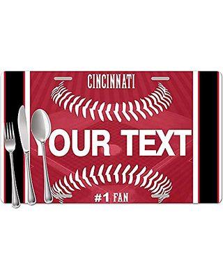 b5cf3b8e2087 BRGiftShop Personalized Custom Name Baseball Team Cincinnati Set of 4 Table  Placemats