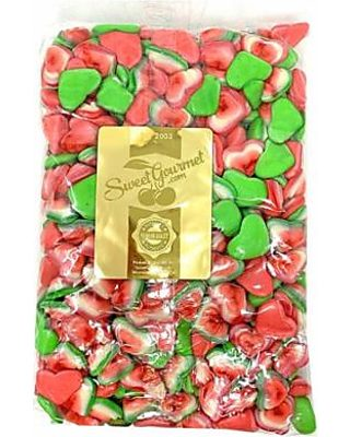 SweetGourmet Triple Heart Gummi | Pink, Green, White | Valentine's Day  Candy | Halal | Bulk Unwrapped | 5 pounds