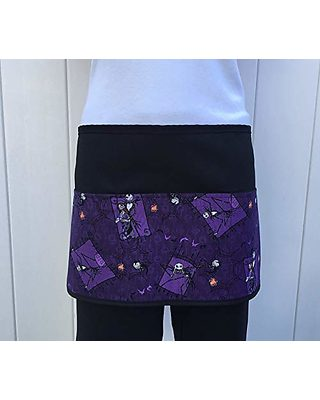 cute Mickey Mouse restaurant cooking kitchen waist design black Check out 300 more aprons @ handmade Janet Apron Waitress or Server 3 Pocket Half Apron