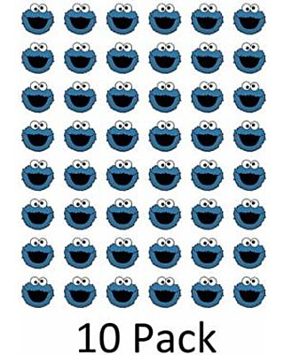 Set Of 10 Cookie Monster Pop Vinyl Sticker Decal For Car Bumper 48 Cookie Monster Envelope Seals Labels Stickers 1 2 Round Buy By Edwin Group