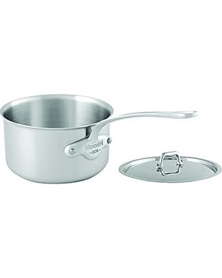Cast Stainless Steel Handle Mauviel Made In France MCook 5 Ply Stainless Steel 5212.25 3 Quart Curved Splayed Saute Pan with Lid