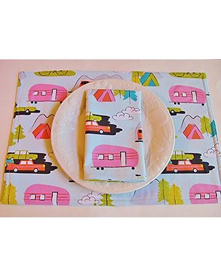 Country Kitchen Linens Going Camping! Kitchen Placemats ...